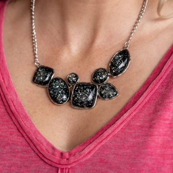 Paparazzi So Jelly Black Necklace, NWT